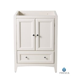 "Fresca FCB2024AW Oxford 24"" Antique White Traditional Bathroom Cabinet"