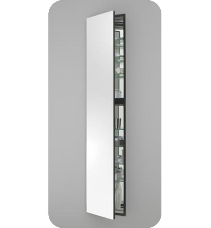 "Robern MC1670D4FPRE2 M Series 15 1/4"" Wide x 4"" Deep Customizable Cabinet With Cabinet Hinge: Right And Style and Color: Flat Cabinet Top with Plain Mirrored Door And Cabinet Accessories: Push-to-Open Mechanism"