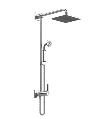 Rubinet 4URT1SNSN R10 Bar with Inlet at Diverter, Shower Head,Shower Arm, Adjustable Slide Bar and Hand Held Shower with Diverter With Finish: Main Finish: Satin Nickel | Accent Finish: Satin Nickel
