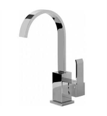 "Graff G-6204-LM38M-PC Qubic 6 3/8"" Single Hole Bathroom Sink Faucet With Finish: Polished Chrome"