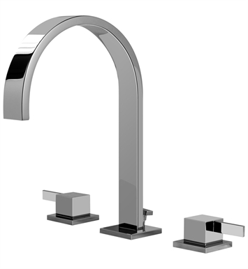 Graff G-6210-LM39-SN Qubic Tre Widespread Lavatory Faucet With Finish: Steelnox (Satin Nickel)