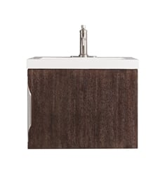 "James Martin 388-V24-CFO Columbia 24"" Single Vanity Cabinet in Coffee Oak and Brushed Nickel Hardware Finish"