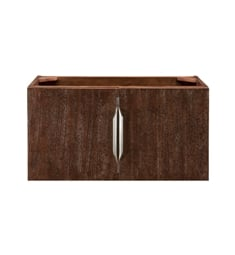 "James Martin 388-V31.5-CFO Columbia 31 1/2"" Single Vanity Cabinet in Coffee Oak and Brushed Nickel Hardware Finish"