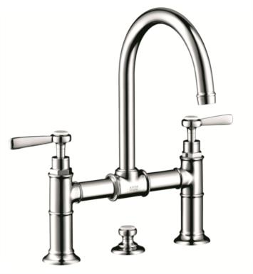 "Hansgrohe 16511831 Axor Montreux 6 7/8"" Double Lever Handle Deck Mounted Bathroom Faucet with Pop-Up Assembly With Finish: Polished Nickel"