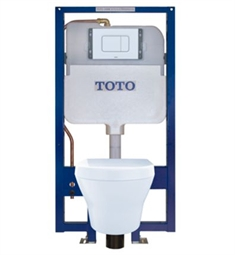 "TOTO CWT437117MFG#WH MH 20 7/8"" Wall-Hung One-Piece 1.28 GPF & 0.9 GPF Dual Flush Elongated Toilet in White"