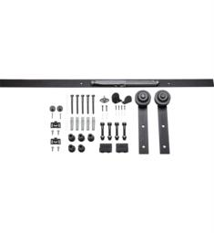 Hardware Resources BDH-01MB-72-R Barn Traditional Strap Door Hardware Kit in Matte Black