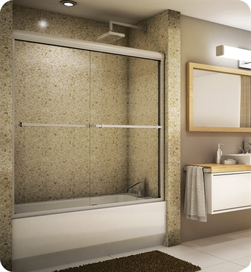 "Fleurco E260A  Banyo Verona 60"" Semi Frameless In Line Sliding Tub Doors"