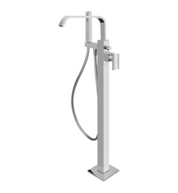 "Graff G-2357-LM31N-PC Immersion 36 5/8"" Floor Mounted Exposed Tub Filler with Handshower and Diverter With Finish: Polished Chrome And Rough / Valve: Trim + Rough"