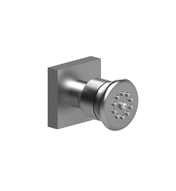 "Rubinet 4J002SNSN Hexis Body Spray with 1/2""NPT x 1/2""NPSM x 3"" Nipple With Finish: Main Finish: Satin Nickel 