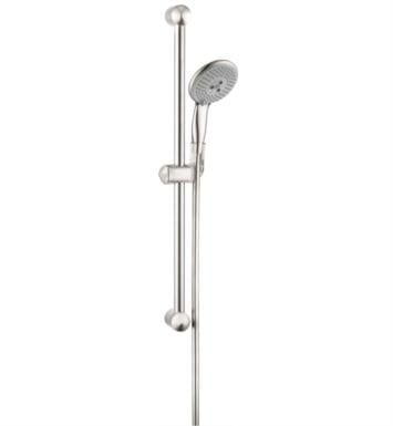 "Hansgrohe 04265 Raindance Unica E 26 3/8"" Wallbar Set Handshower with QuickClean and AirPower Technologies"