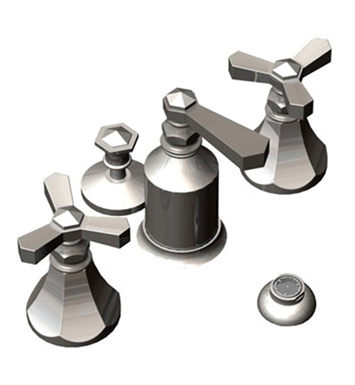 Rubinet 6CHXLCHCH Hexis Bidet Fittings with Spray, Diverter with Built-In Vacuum Breaker & Pop-Up Assembly With Finish: Main Finish: Chrome | Accent Finish: Chrome
