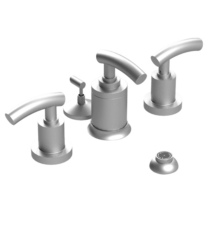 Rubinet 6DHOLGDGD H2O Pressure Balance Bidet Fittings with Spray, Diverter with Built-In Vacuum Breaker & Pop-Up Assembly With Finish: Main Finish: Gold | Accent Finish: Gold