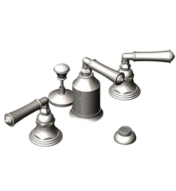 Rubinet 6CRVLPNWH Raven Bidet Fittings with Spray, Diverter with Built-In Vacuum Breaker & Pop-Up Assembly With Finish: Main Finish: Polished Nickel | Accent Finish: White