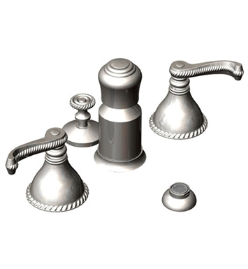 Rubinet 6CETLSNBB Etruscan Bidet Fittings with Spray, Diverter with Built-In Vacuum Breaker & Pop-Up Assembly With Finish: Main Finish: Satin Nickel | Accent Finish: Bright Brass
