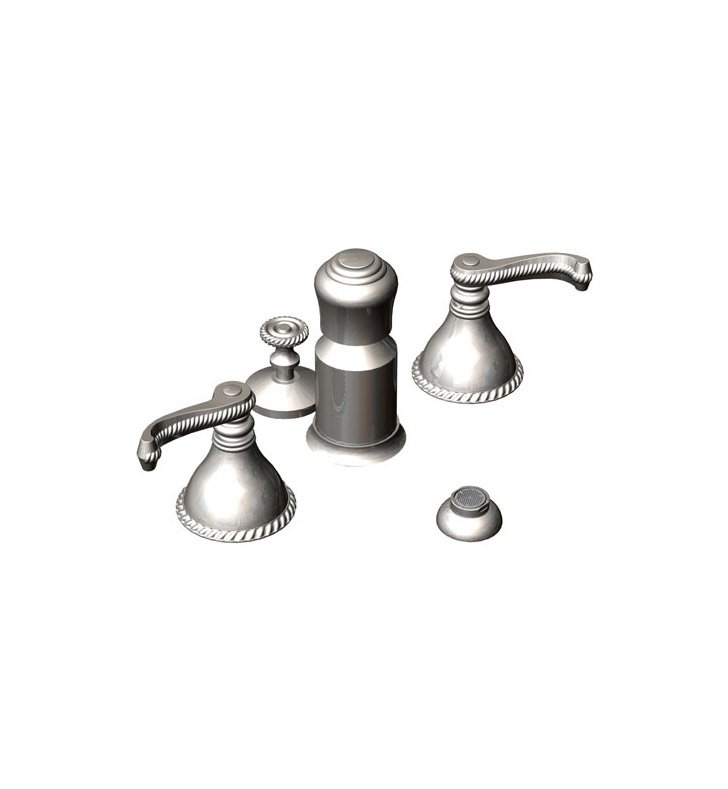 Rubinet 6DETLSNSN Etruscan Pressure Balance Bidet Fittings with Spray, Diverter with Built-In Vacuum Breaker & Pop-Up Assembly With Finish: Main Finish: Satin Nickel | Accent Finish: Satin Nickel