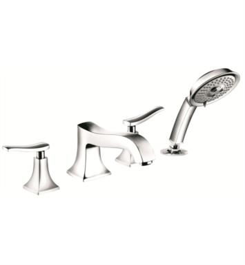 "Hansgrohe 31314 Metris C 8"" Four Hole Widespread/Deck Mounted Roman Tub Set Trim with Handshower"