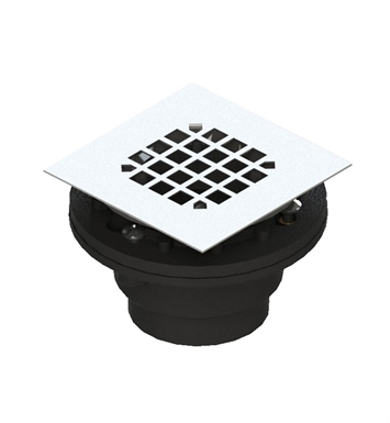 Rubinet 9FSD21MB Shower Drain for concrete base With Finish: Matt Black