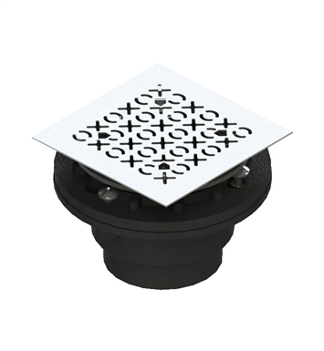 Rubinet 9FSD23 Shower Drain for concrete base with XOXO pattern