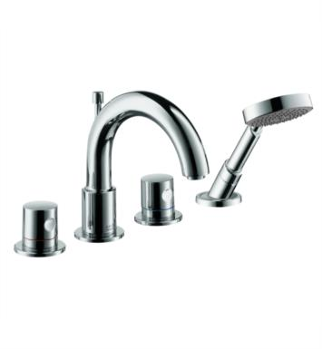 "Hansgrohe 38447 Axor Uno 8 1/4"" Four Hole Widespread/Deck Mounted Roman Tub Set Trim with Handshower"