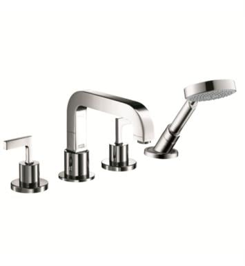 "Hansgrohe 39454821 Axor Citterio 8"" Four Hole Widespread/Deck Mounted Roman Tub Set Trim with Handshower With Finish: Brushed Nickel"