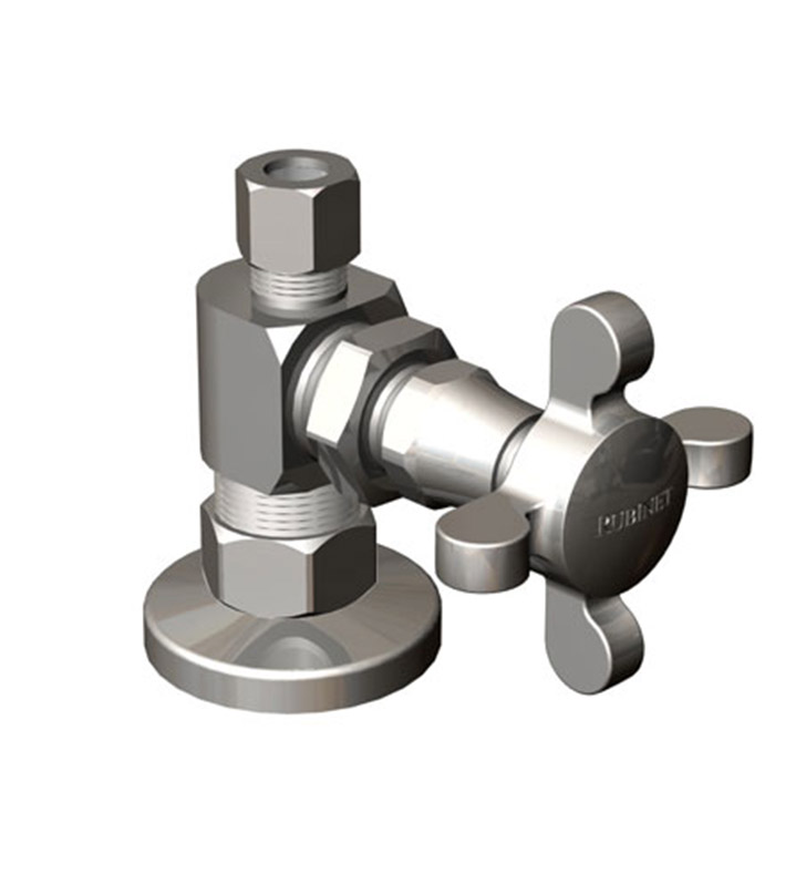 Rubinet 9ASV4SC Supply Valves & Flextubes Classic Straight Supply Valve With Finish: Satin Chrome