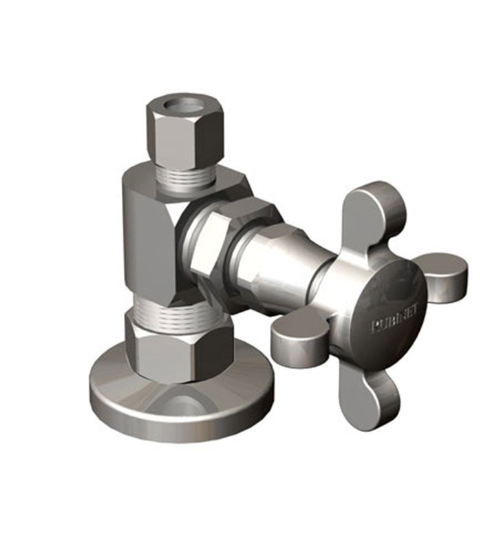 Rubinet 9ASV4SN Supply Valves & Flextubes Classic Straight Supply Valve With Finish: Satin Nickel