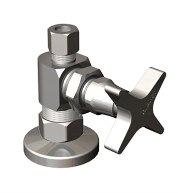 Rubinet 9ASV5PN Supply Valves & Flextubes Contemporary Straight Supply Valve With Finish: Polished Nickel