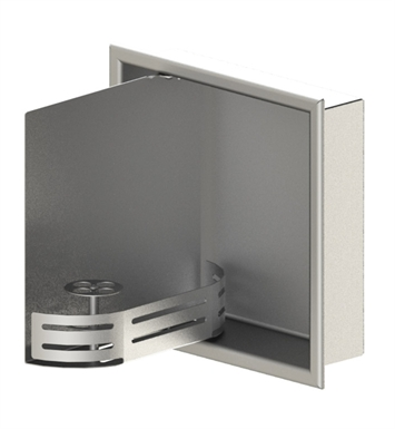"Rubinet 9TWN3CHMR 12""x12"" Recessed Wall Niche with Door With Finish: Main Finish: Chrome 