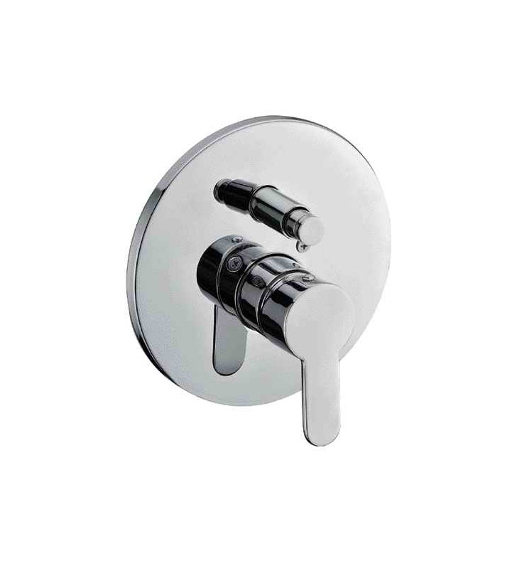 ALFI Brand AB3101-PC Polished Chrome Shower Valve Mixer with Rounded Lever Handle and Diverter