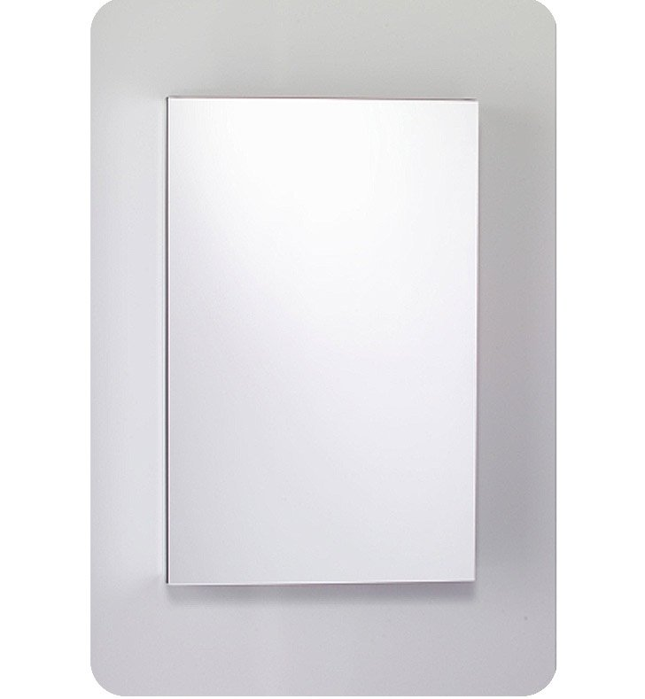 "Robern MC2030D4FPLE4 M Series 19 1/4"" Wide x 4"" Deep Customizable Cabinet With Cabinet Hinge: Left And Style and Color: Flat Cabinet Top with Plain Mirrored Door And Electrical / Lighting / Audio Option: Electrical outlet with Interior Light, Night Light & Defogger"