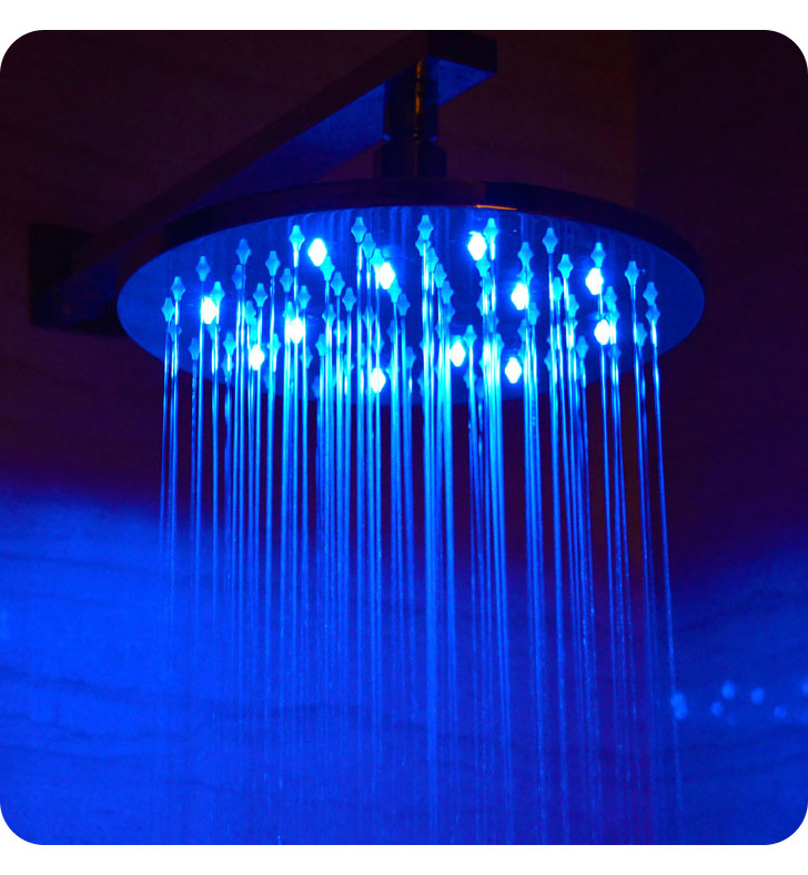 ALFI Brand LED5006 10 inch Round Multi Color LED Rain Shower Head