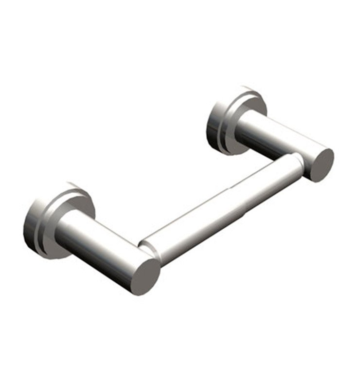 Rubinet 7ELA0CHMB LaSalle Toilet Paper Holder (Double Post) With Finish: Main Finish: Chrome | Accent Finish: Matt Black