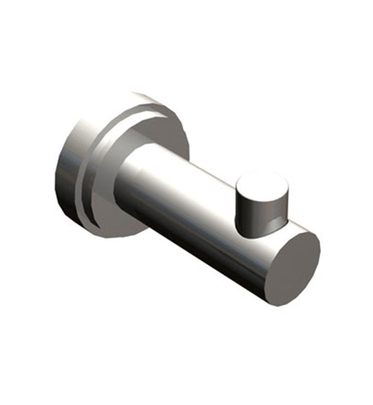 Rubinet 7HLA0CHRD LaSalle Robe Hook With Finish: Main Finish: Chrome | Accent Finish: Red