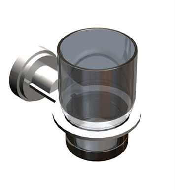 Rubinet 7LLA0MBCH LaSalle Glass Holder With Finish: Main Finish: Matt Black | Accent Finish: Chrome