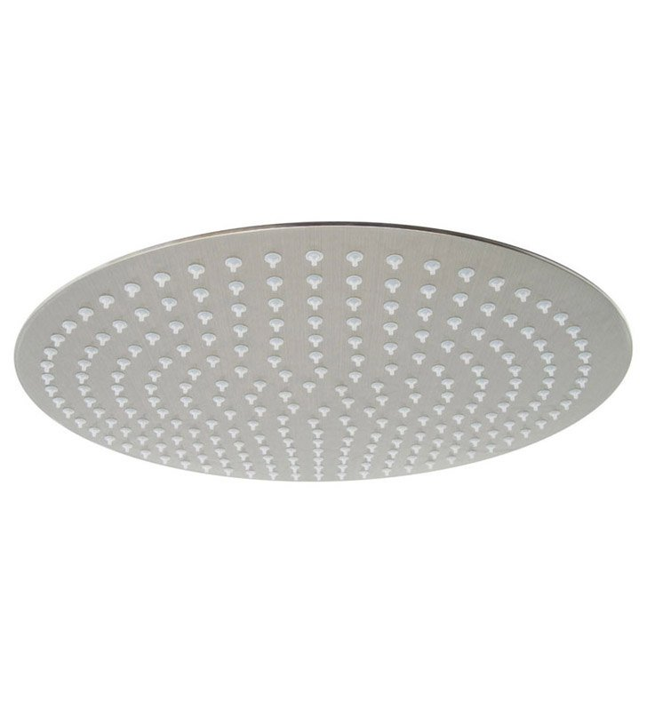ALFI Brand RAIN16R-BSS Solid Brushed Stainless Steel 16 inch Round Ultra Thin Rain Shower Head