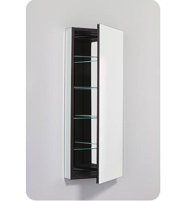 "Robern PLM1640BBLE PL Series 15-1/4"" x 39-3/8"" Customizable Medicine Cabinet w/ Wide Flat Door With Cabinet Hinge: Left with Electric Option And Style and Color: Black Interior And Mirror Type / Lens: Beveled"