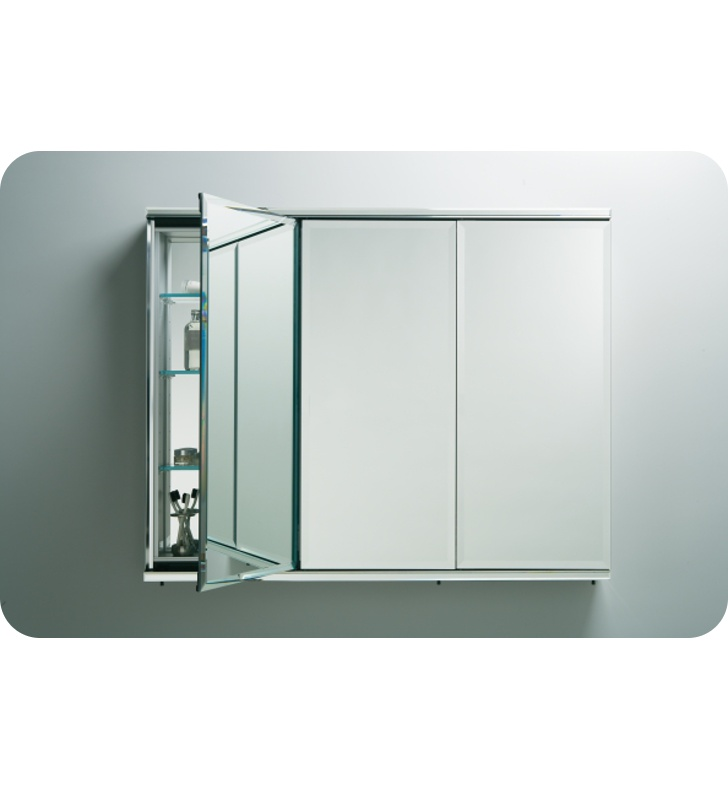 "Robern TFC4838 C Series 48"" x 38 1/8"" Three-Door Flat Beveled Mirrored Cabinet"