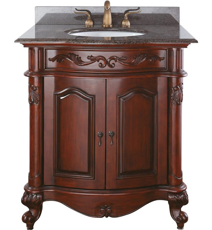 "Avanity PROVENCE-V30-AC Provence 30"" Cherry Antique Bathroom Vanity"