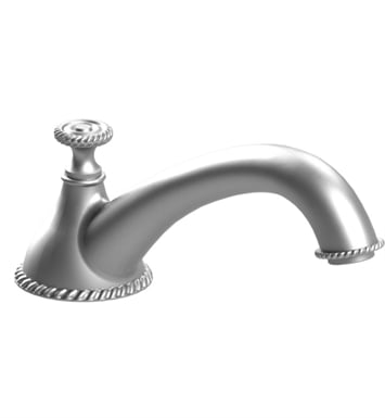 Rubinet 2TETDSNSN Etruscan Deck Mount Tub Spout With Finish: Main Finish: Satin Nickel | Accent Finish: Satin Nickel