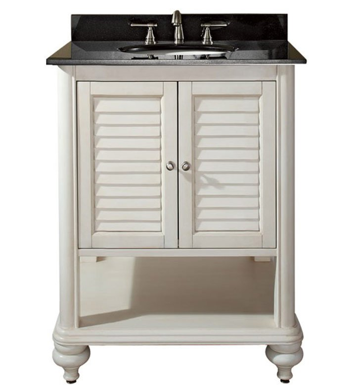 "Avanity TROPICA-V24-AW Tropica 24"" Antique White Bathroom Vanity"