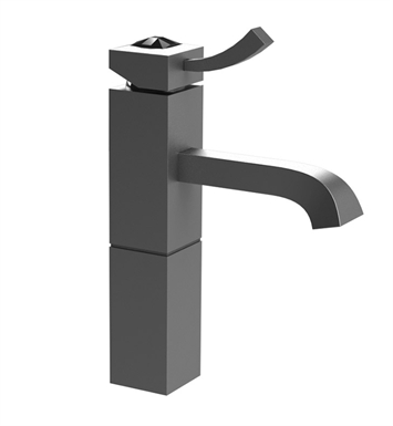 Rubinet 1NICLBDBDJT Ice Single Control Lavatory with Pop-Up Assembly With Finish: Main Finish: Bordeaux | Accent Finish: Bordeaux And Crystal Accent: Black Crystal Accent