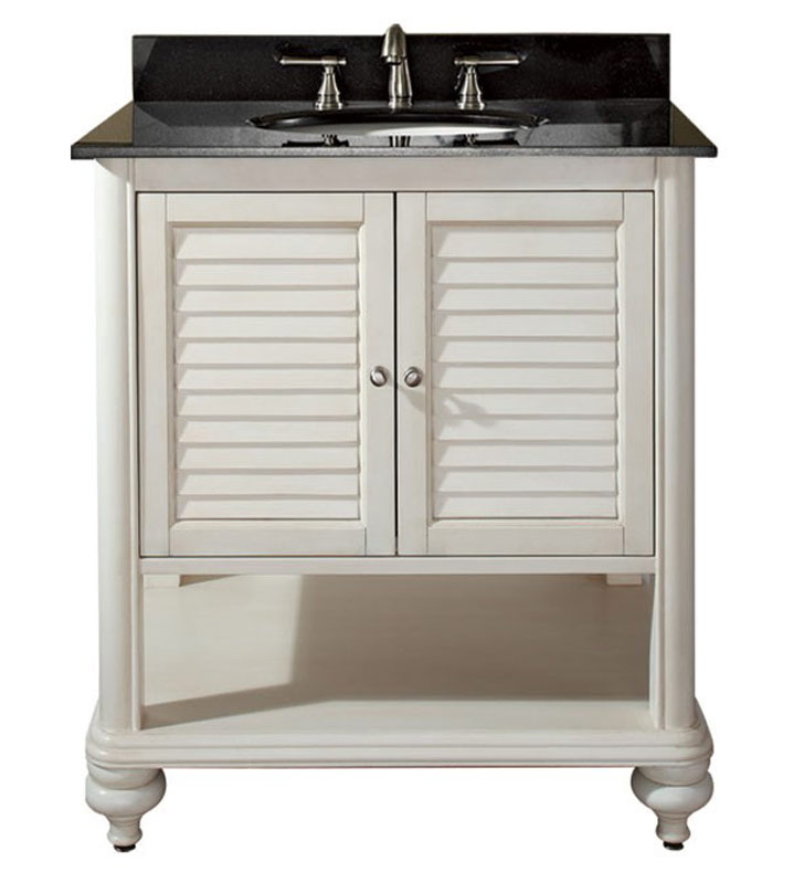 "Avanity TROPICA-V30-AW Tropica 30"" Antique White Bathroom Vanity"