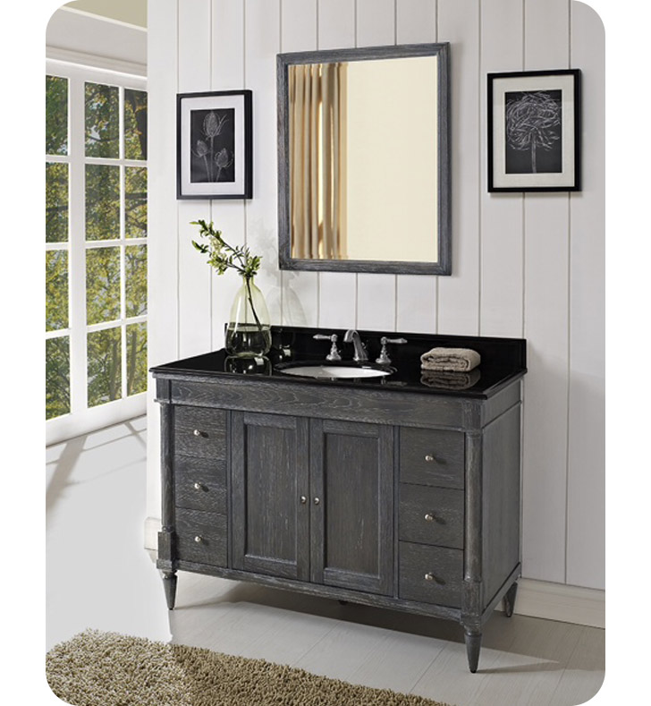 "Fairmont Designs 143-V48 Rustic Chic 48"" Modern Bathroom Vanity in Silvered Oak"