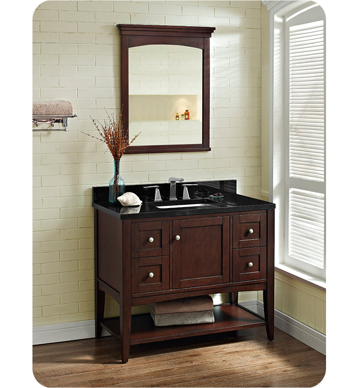Fairmont Designs 1513-VH42 Shaker Americana 42 inch Open Shelf Vanity in Habana Cherry