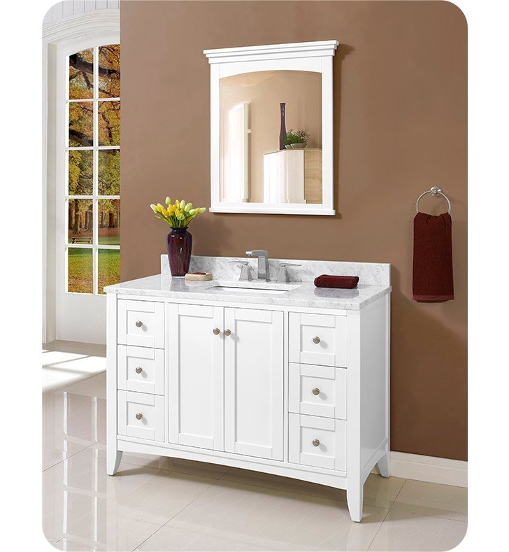 "Fairmont Designs 1512-V48 Shaker Americana 48"" Vanity in Polar White"