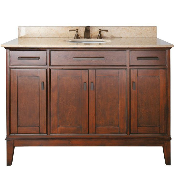 "Avanity MADISON-V48-TO Madison 48"" Tobacco Antique Bathroom Vanity"