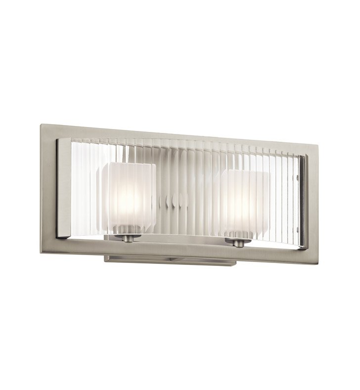 Kichler 45442NI Rigate Collection Bath 2 Light Halogen in Brushed Nickel