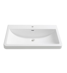 "Fresca FVS8532WH Milano 32"" White Integrated Sink with Countertop"