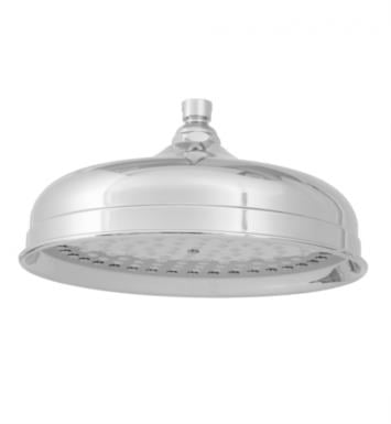 "Jaclo S187-PN Roaring 20'S Carolene 10 1/4"" Wall/Ceiling Mount Single-Function Showerhead With Finish: Polished Nickel And Flow Rate: 2.5 GMP"