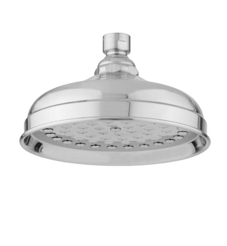 "Jaclo S183-SC Roaring 20'S Michelle 6 1/4"" Wall/Ceiling Mount Single-Function Rain Showerhead With Finish: Satin Chrome And Flow Rate: 2.5 GMP"